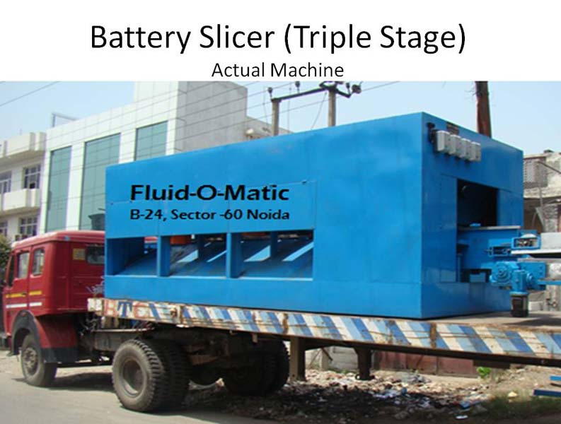 Triple Stage Battery Cutting Machine