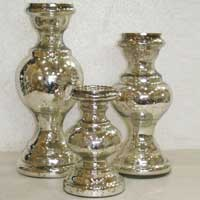Glass Candle Stands