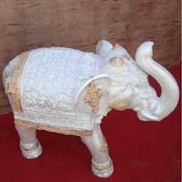 Fiber Elephant Statue