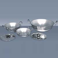 Aluminium Round Bottom Karahi