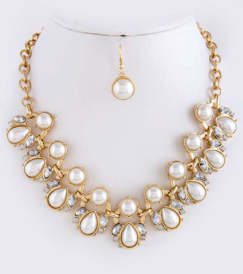 Crystal Necklace (NS2994#1)