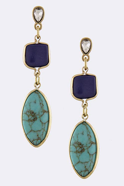 Gemstone Earring (EPE0710#3)