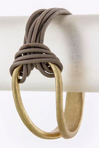 Leather Bracelet (BC606541#6)