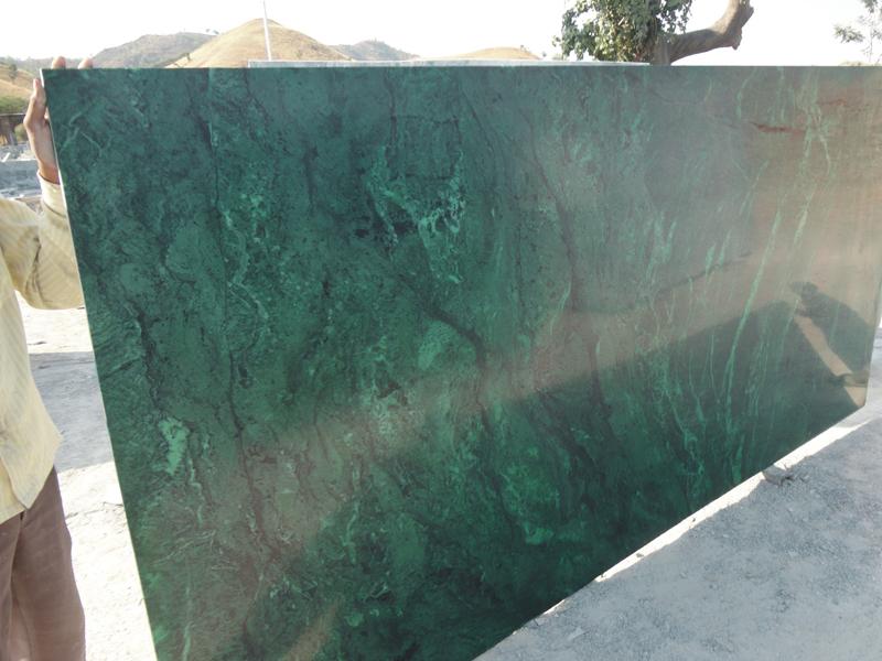 Polished Kota Stone Green Marble Slabs Cobblestone