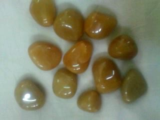 Agate Light Yellow Colored Tumbled Stone