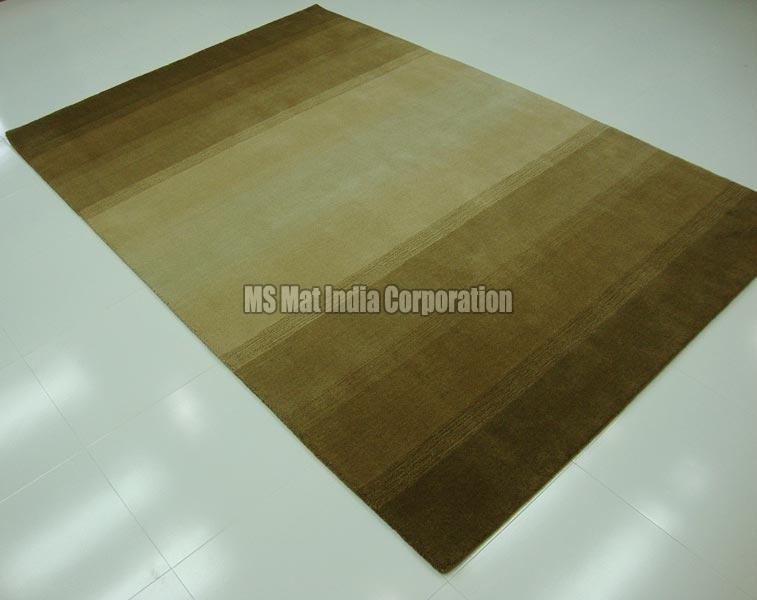 Beige Handloom Woolen Carpet