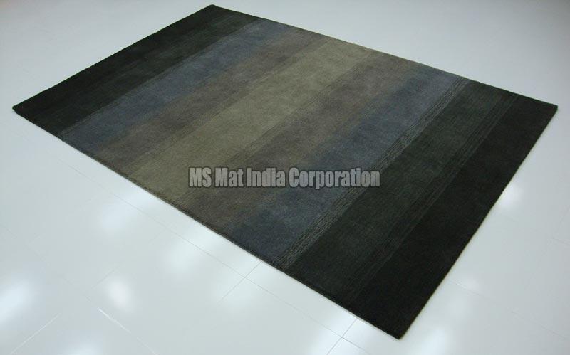 Charcoal Handloom Woolen Carpet