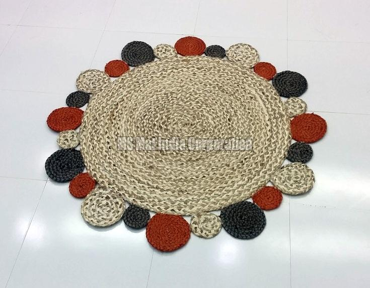 Hand Woven Braided Rug 01