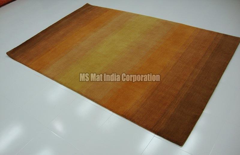 Orange Handloom Woolen Carpet
