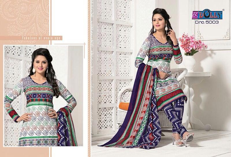 Bandhani Printed Dress Material