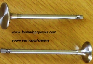VALVES IN-EX FOR VOLVO PENTA KAD44-KAD300,cross ref 861698-861699