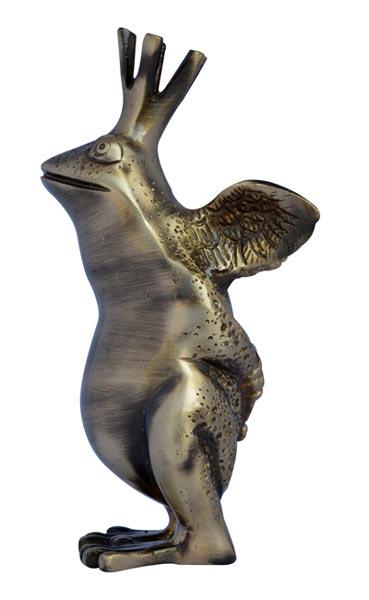Brass Frog Statue