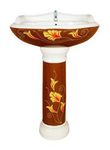 Handcraft Wash Basin with Pedestal