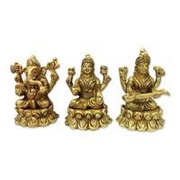 Ganesh Laxmi Saraswati On Lotus