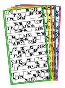Bingo Ticket Books