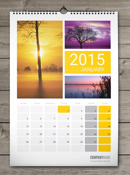 Wall Mounted Calendar