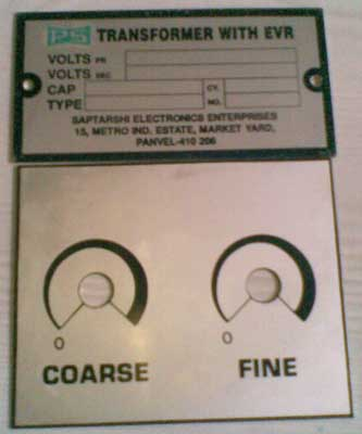 Electronic Voltage Regulator
