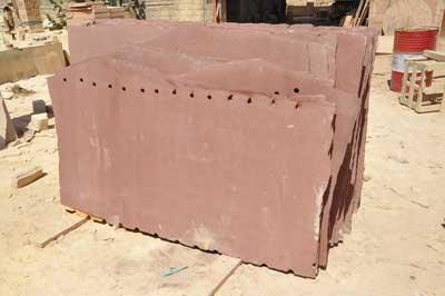 Red Sandstone Slab