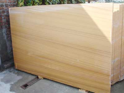 Teak Wood Sandstone Slab