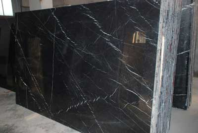 Zebra Black Marble Slabs
