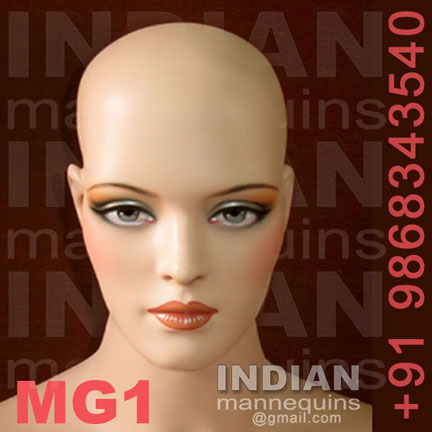 Bald Female Mannequin Head