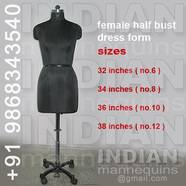 Female Half Bust Dress Form