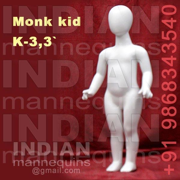 Monk Head Kids Mannequins