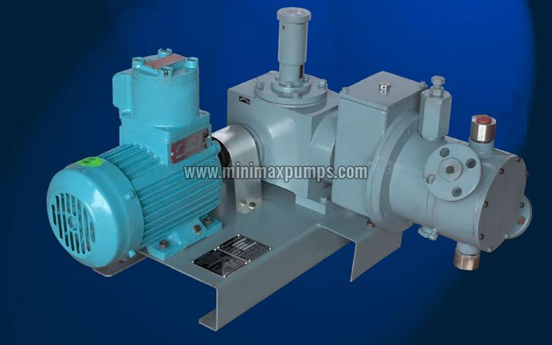 Hydraulic Actuated Diaphragm Jacketed Head Type Pump