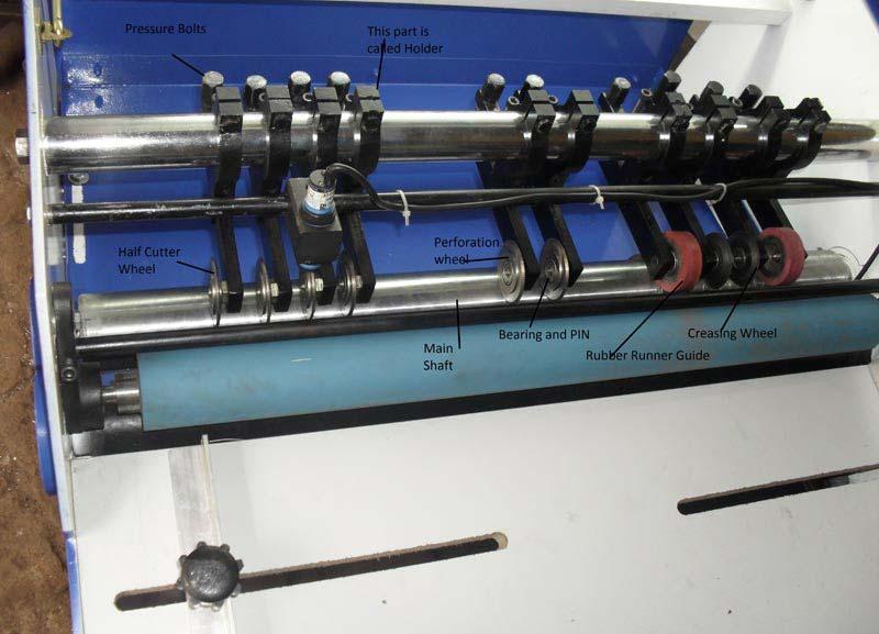 Sticker Half Cutting Machine Spare Parts