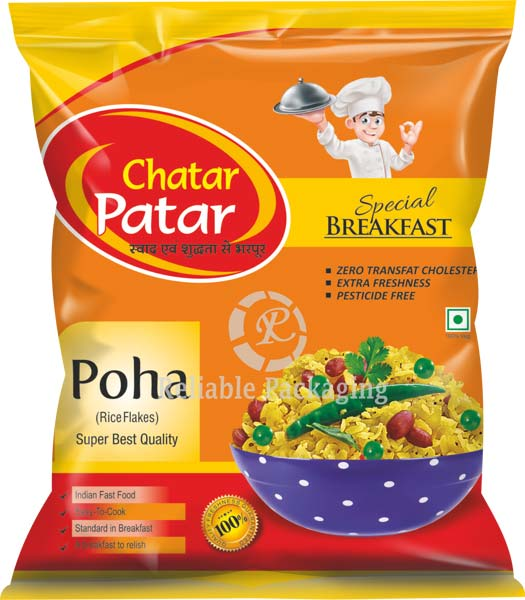 Laminated Poha Packaging Pouches 01