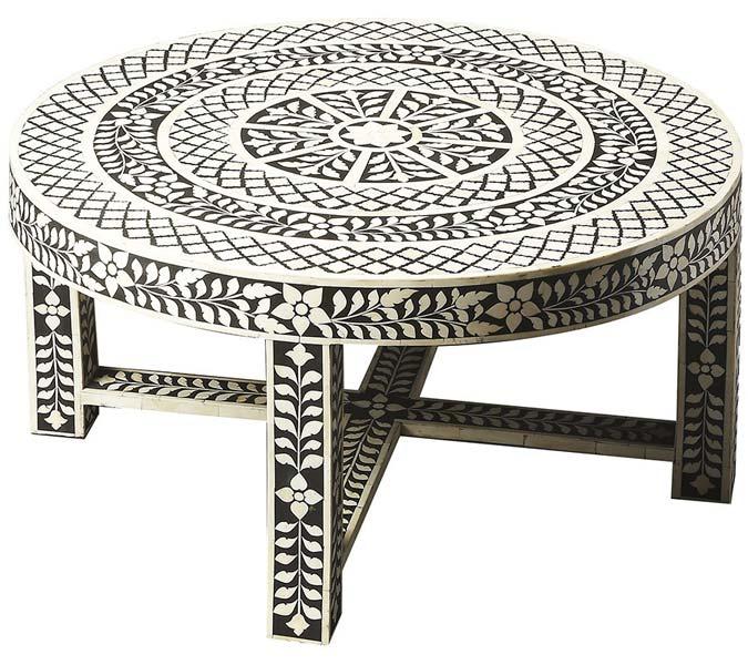 Joshua Bone Inlay Coffee Table: Bone Inlay Coffee Table (NB-CFTL-103) Exporter & Wholesale