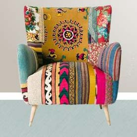 Patch Work Sofa Chair (NB-SCH-006)