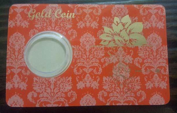 Gold Coin Card 05