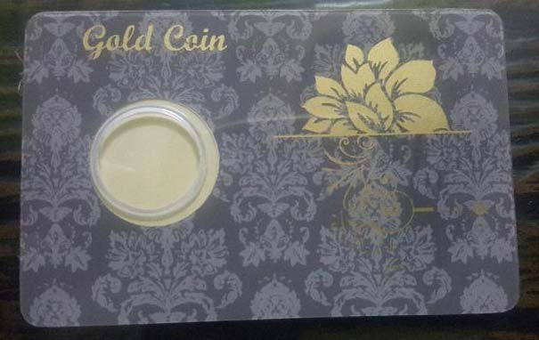 Gold Coin Card 06