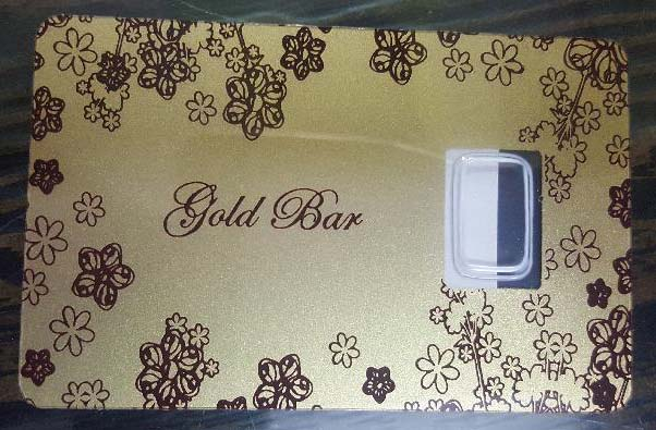 Gold Coin Card 09