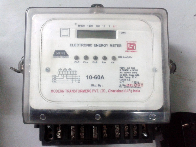 Three Phase Electricity Meter : Three phase electronic energy meter