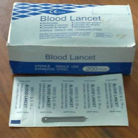 Stainless Steel Blood Lancet