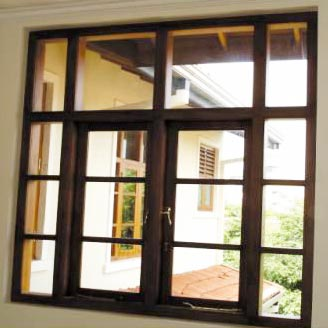 Wooden french window wooden folding window wooden windows for Window design sri lanka