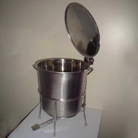 Stainless Steel Foot Dustbin