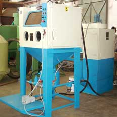 Cabinet Type Shot Blasting Machine
