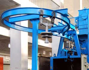 Monorail Hanger Shot Blasting Machine