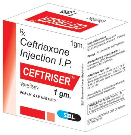 Ceftriser 1 gm Injectable