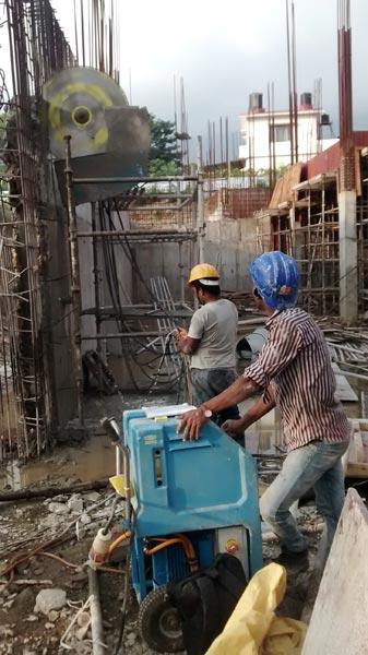 400mm RCC Wall Cutting Work