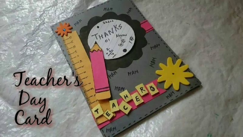 Handmade teachers day greeting cards manufacturer supplier in delhi handmade teachers day greeting card 01 m4hsunfo
