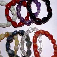 Assorted Stone Tumbled Bracelet