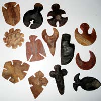 Hand Knapped Indian Jasper Arrowheads 05