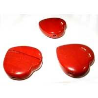 Red Jasper Heart Pendants