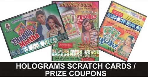 Holographic Scratch Cards Manufacturer and Supplier