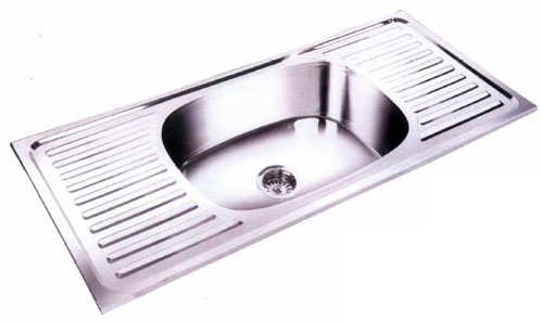 Single Bowl with Double Drain Board