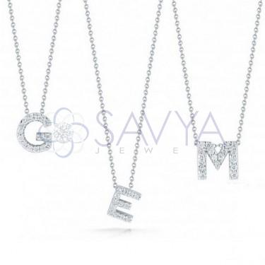 Diamond Initial Pendants